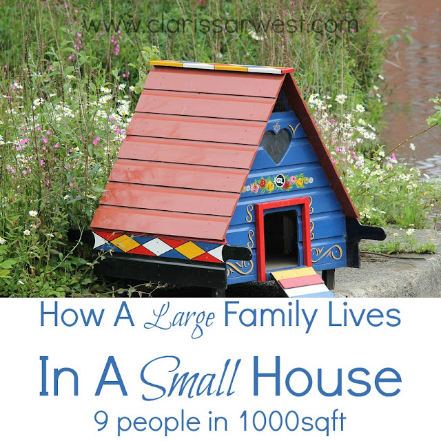 how a family of 9 makes 1000sqft work for them!