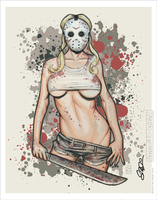 Machete Girl por scottblairart