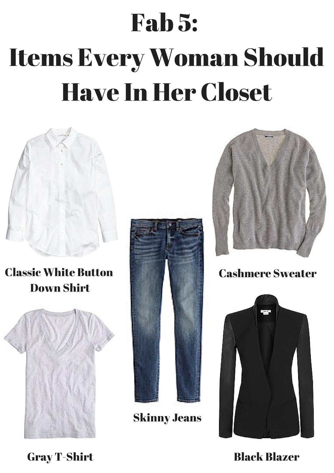 Fab 5, Closet Essentials