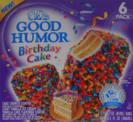 Good Humor Birthday Cake Bars