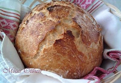 dagasztás nélküli kenyér fotó