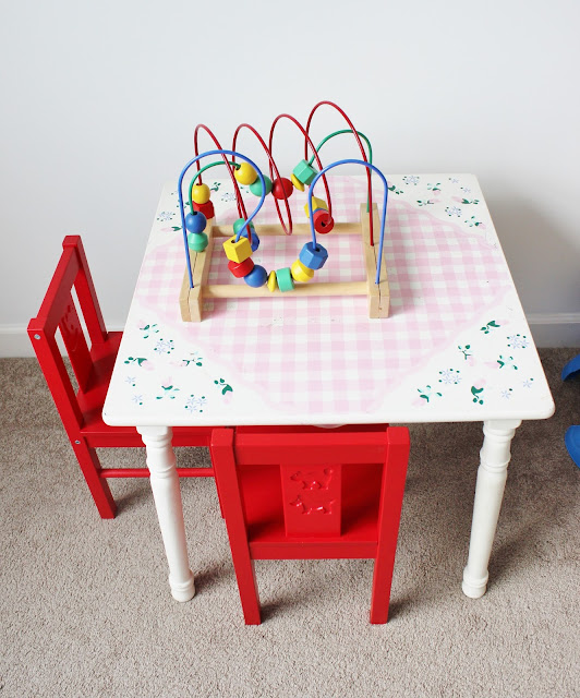 """Kid's Chalkboard Table Makeover """"Before"""" Pics... Click to See the After!"""