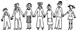 Описание человека в лице Миши и Ольги на английском языке. Описание семьи Владика на английском языке.