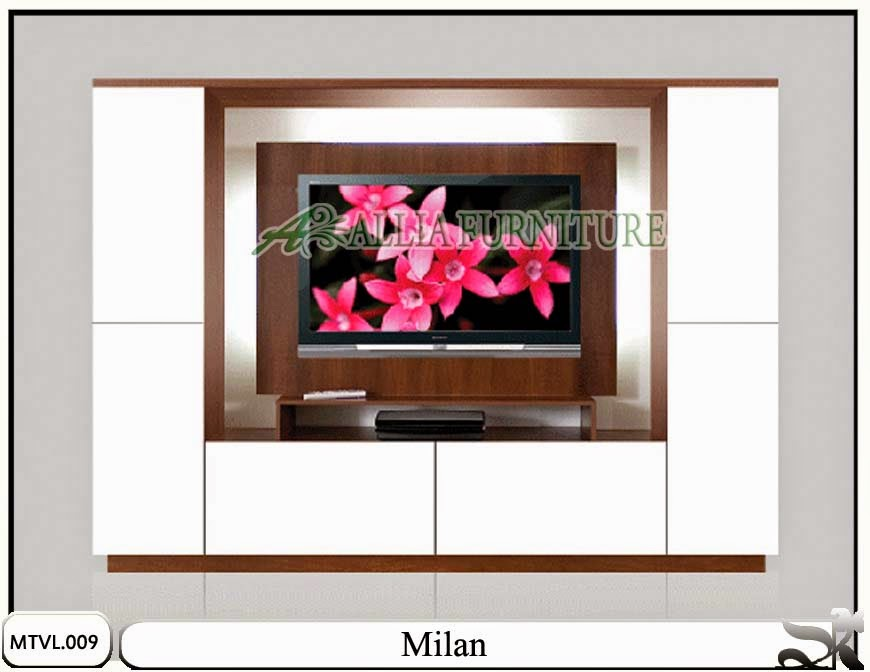 Lemari desain tv lcd minimalis milan