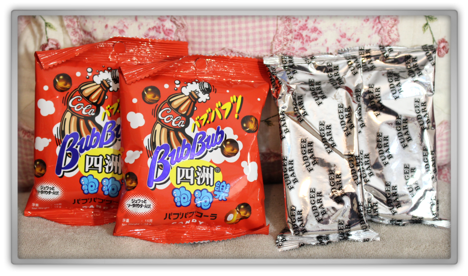 BCDEat November box unboxing review subscriptionbox snacks chinese asian candy geniesfavproducts  four seas bub bub cola fudgee barr chocolate