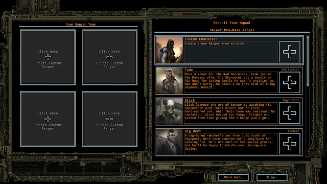 Wasteland 2 character recruit screen