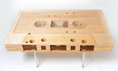 mesa de centro retro cassette