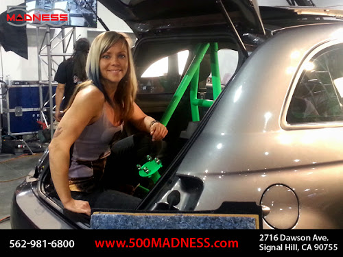 Fiat 500 Abarth with Jessi Combs