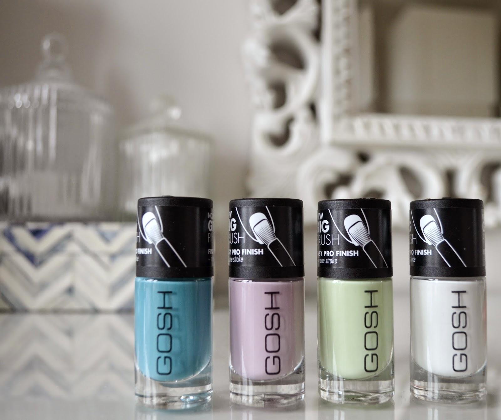 GOSH spring nail colours