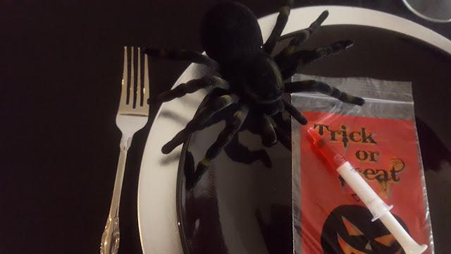 spider, halloween decoration, eventsojudith.blogspot.com