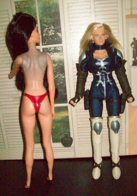 Jakks Pacific Alex doll on left, Takara CyGirl on right