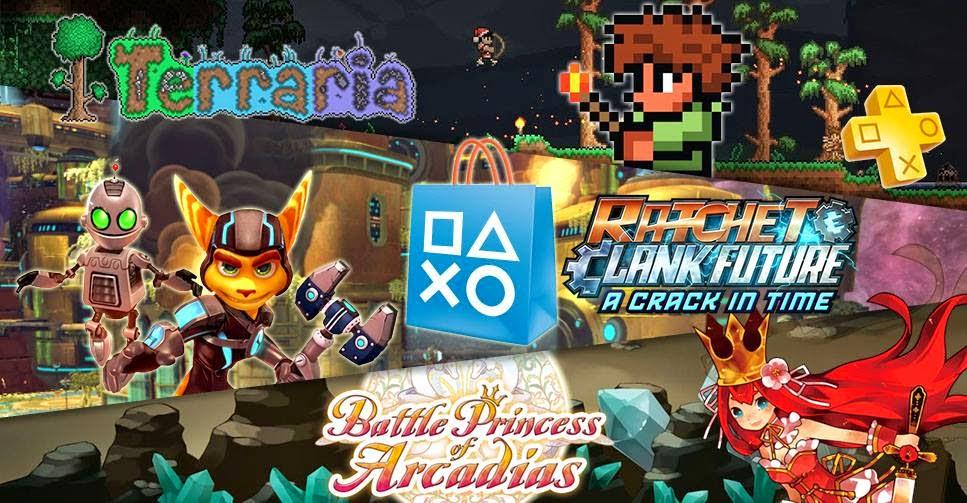 Terraria na Plus, dose dupla de Ratchet & Clank Future, Battle Princess of Arcadias e muito mais ...