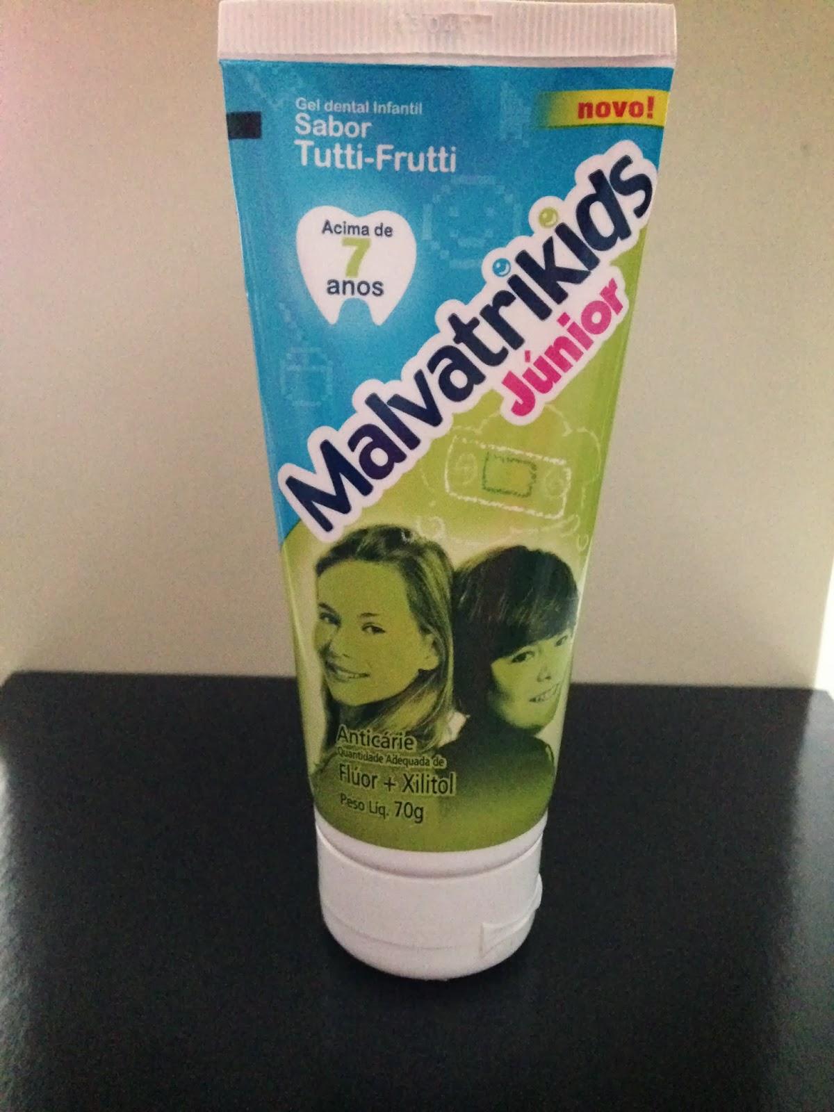 laboratório daudt malvatrikids júnior gel dental infantil de acima de sete anos