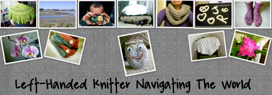 left-handed knitter navigating the world