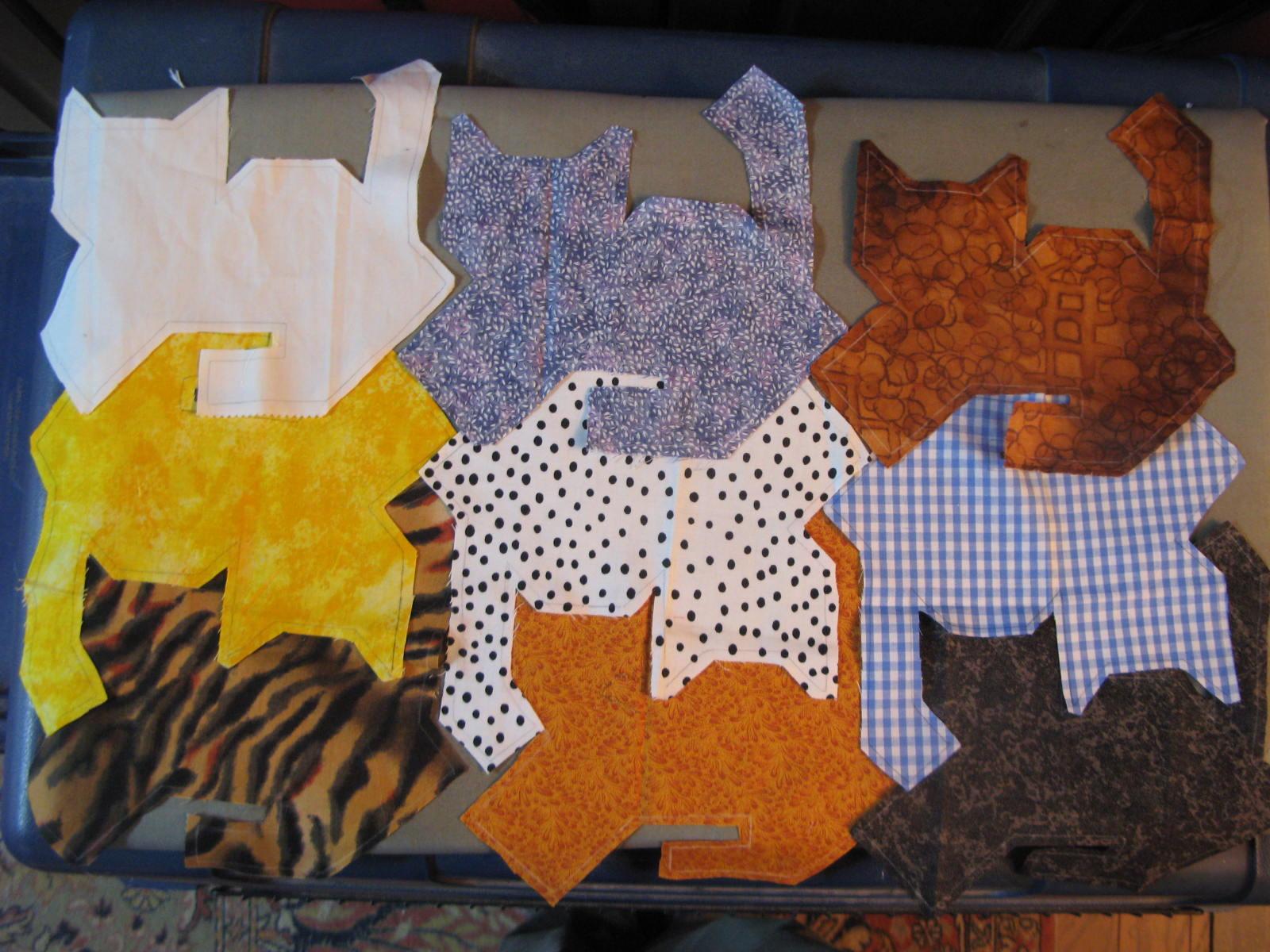My Quilt Diary: Herding cats - part 1 : tessellation cat quilt pattern - Adamdwight.com