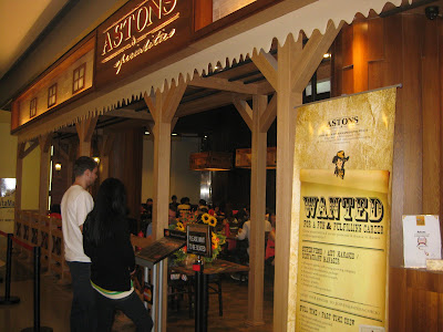 or a overnice Western looking eating seat inwards malls Singapore attractions : Astons
