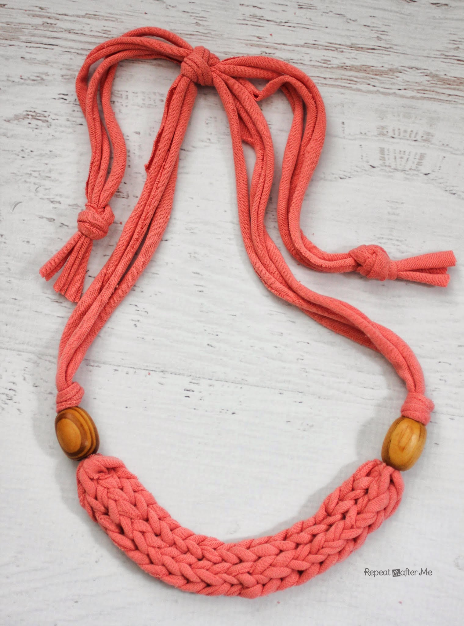 Finger Weave Necklace - Repeat Crafter Me