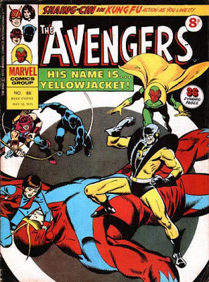 Marvel UK, Avengers weekly #86, Yellojacket's first appearance, John Buscema
