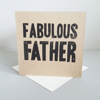 greeting card that says Fabulous Father