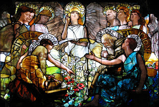 Tiffany window, 'Science and Religion'
