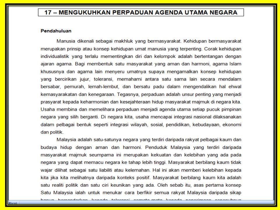 Untuk menjawab soalan 3 kertas Bahasa Melayu 1 SPM 2011 yang berbunyi