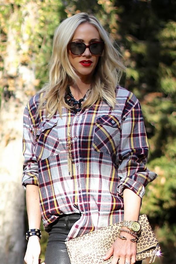 tartan print flannel