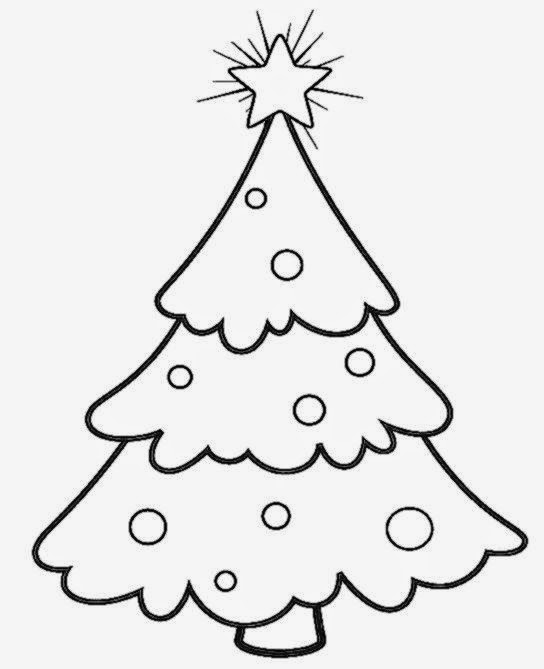 Christmas Tree Topper Star Template Coloring Page Printable With And Decorations Top