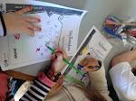 Los chicos dibujaron su propia versión de la tapa del libro