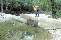 la represa de agua potable de Olanchito se esta secando