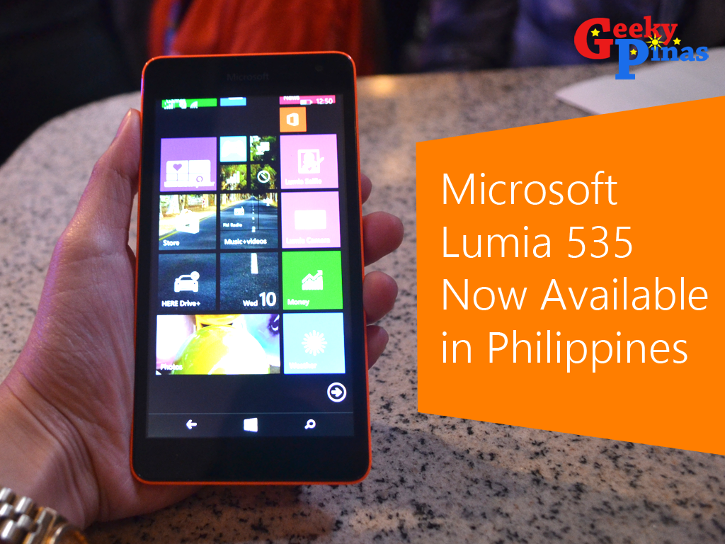 Microsoft Lumia 535 Dual SIM Now Available In PH, Priced At 5,990!