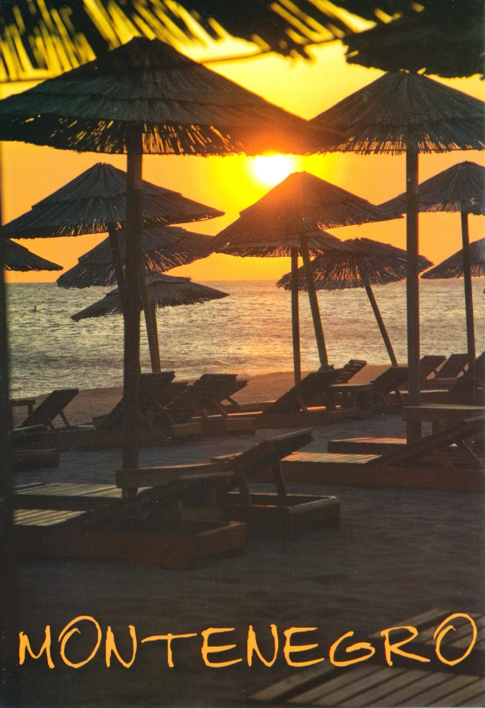 postcard, montenegro, ulcinj, beach, copacabana