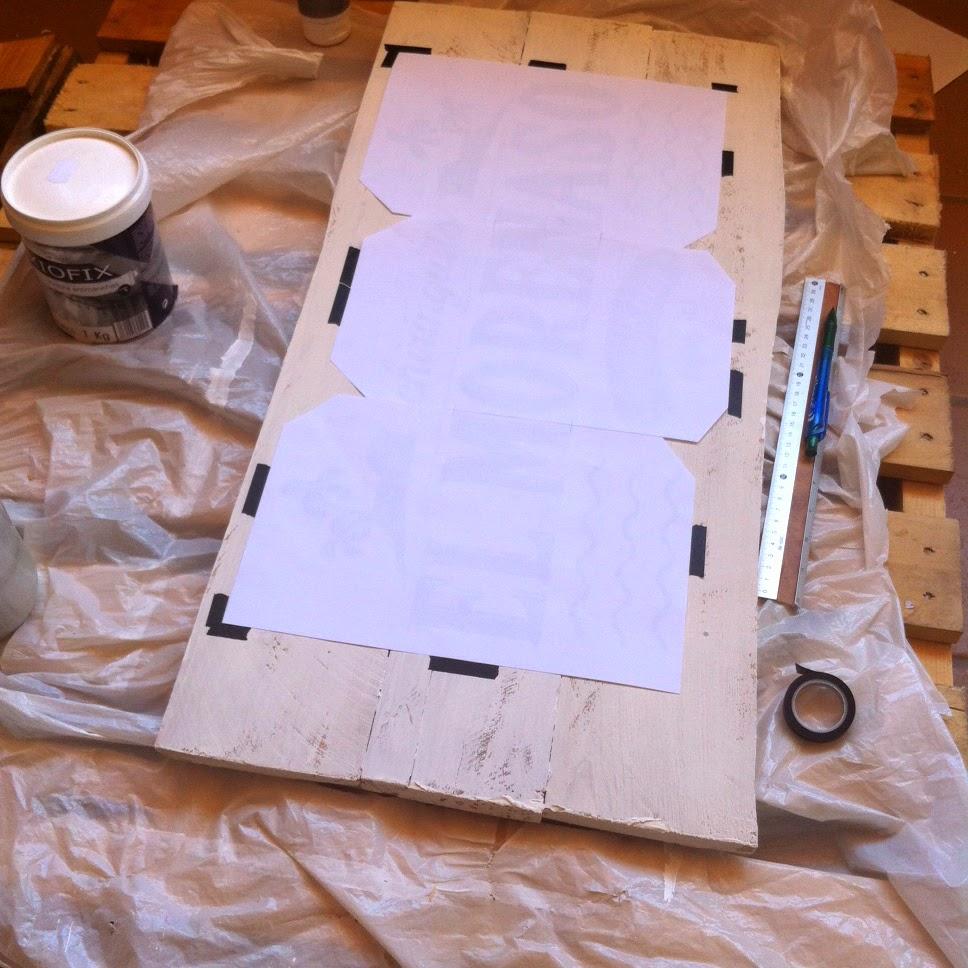como hacer un cartel vintage en madera