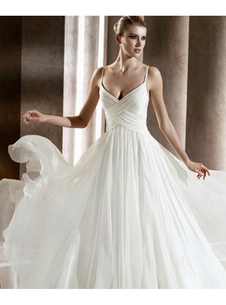 vestidos de novia tirantes delgados