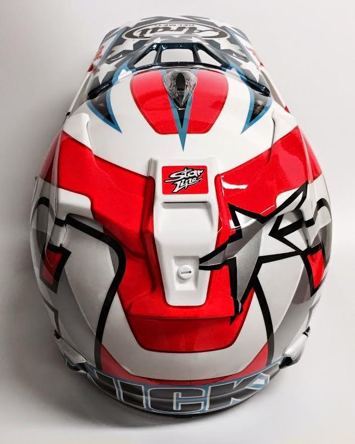 Racing Helmets Garage: Arai MX-V N.Hayden 2015 by Starline