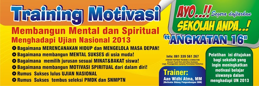 Training Motivasi Ujian Nasional 2013