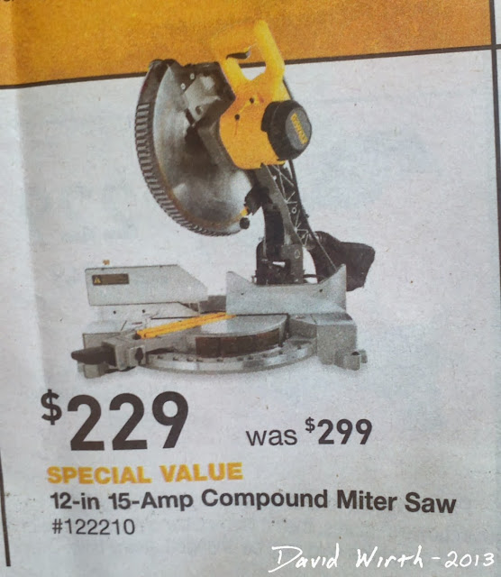 "dewalt miter saw, 12"", 15 amp, bevel"