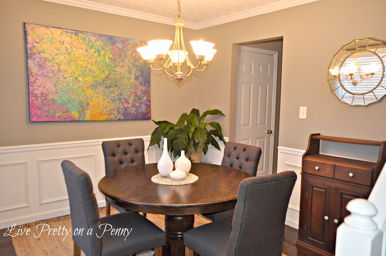 Help i can 39 t choose a paint color live pretty on a penny for Tejas dining room at t conference center