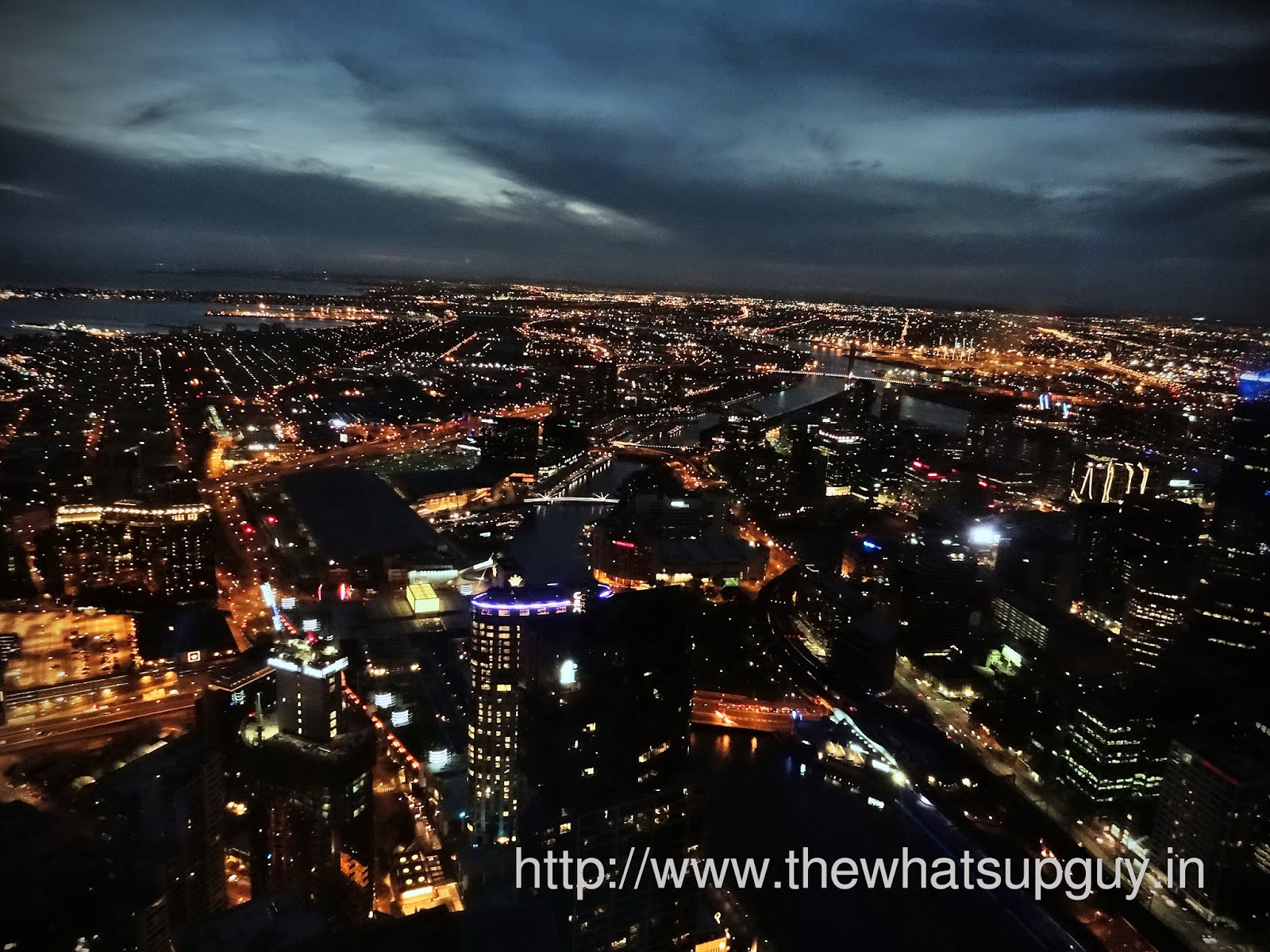 Eureka Towers Melbourne At Night
