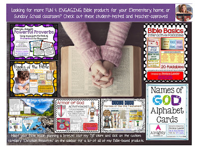 Looking for FUN & ENGAGING Bible products for your home, Sunday School, or Christian school classroom? Check out these student-tested, teacher-approved packets! created by Jessica Lawler.