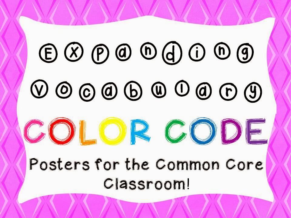 http://www.teacherspayteachers.com/Product/Expand-Vocabulary-Color-Code-posters-1001352