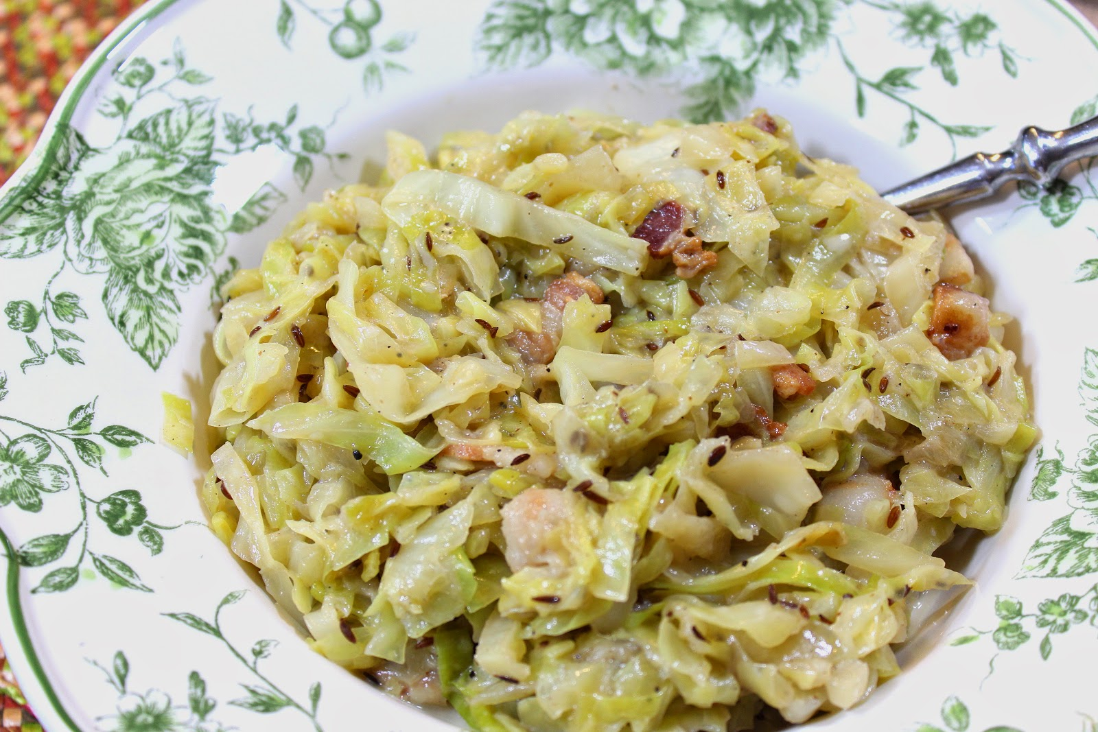 Creamed Cabbage with Bacon and Caraway Recipe - Kudos Kitchen by Renee