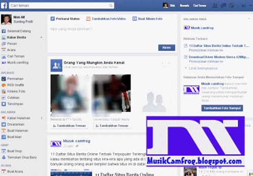 sosial media facebook beranda