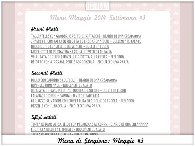 Menu di Stagione: Maggio #3 - PDF