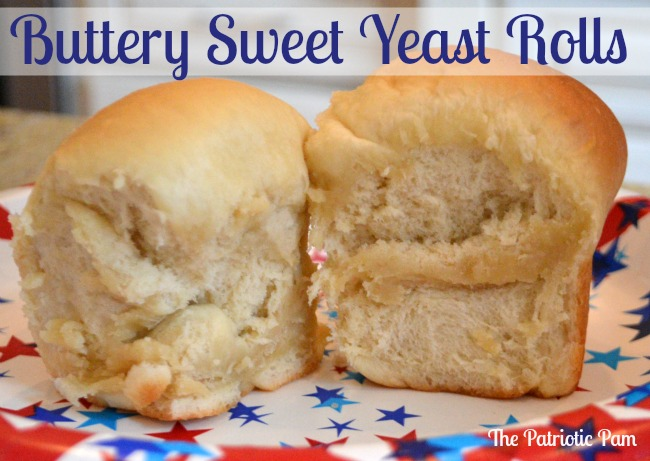 The Patriotic Pam...: Buttery Sweet Yeast Rolls