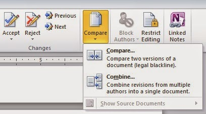 merging two word documents with track changes