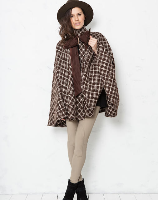 Chocolate Plaid Cape #vintage #cape