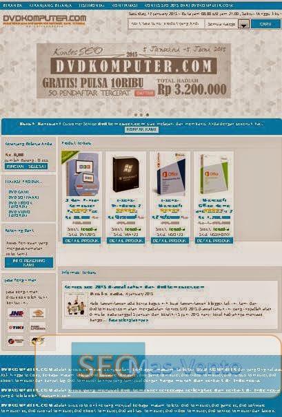 Halaman Depan Situs DVDKOMPUTER.COM - DVDKOMPUTER.COM Pusat DVD Komputer Terlengkap