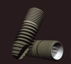 diseño implante dental en tornillo