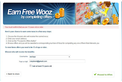 Earn Free Wooz on Woozworld
