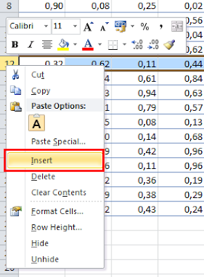 Excel insert row tutorial